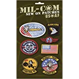Pack of Airforce Sew on Cloth Badges Military Patches on Card by Top Gun