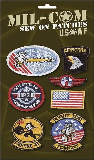 Mil-Com - Pack de parches de las fuerzas aéreas - Para coser sobre la ropa: Amazon.es: Ropa y accesorios
