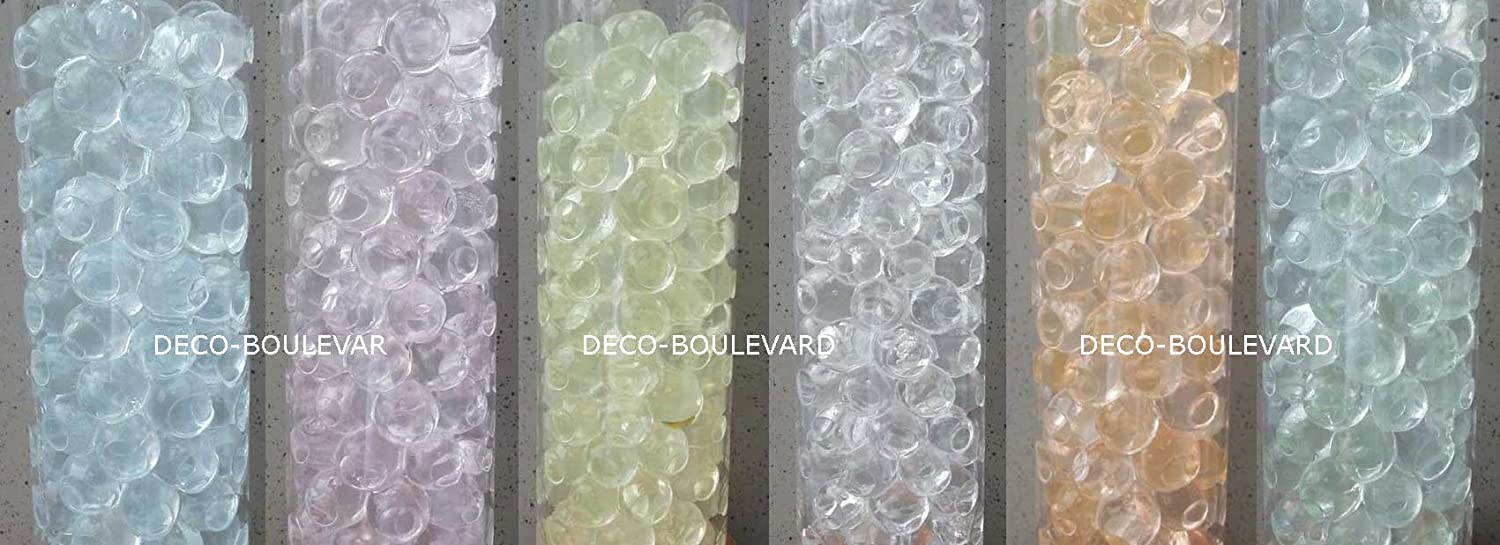 8 bags of slightly shining water pearls (NIGHT&DAY 0.8 to 1.4 cm) from Deco-Boulevard.de - Ideal decoration for any occasion! Decoration for flowers, candles, tea lights. Can be used as Eventdeco, party decorations, weddings and events. Also known as