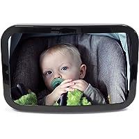Streetwize SWBM2 Baby Safety Mirror - 29 x 19 cm, Car Seat Mirror for Infants, Kids, Detachable, Easy Rotation