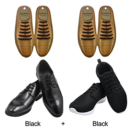 67892eec1e3a SENT CHARM No Tie Dress Shoe Laces for Men Women Elastic Rubber Silicone  Formal Oxford