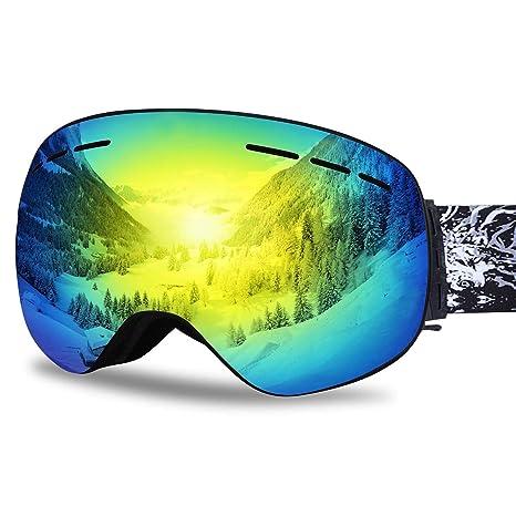 ab01d10294 Amazon.com   Ubelly Ski Goggles