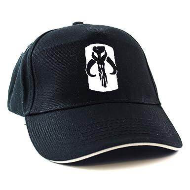 STAR WARS  MANDALORIAN SKULL LOGO Sandwich Peak Cap (One Size Fits All Black d7f9bcb6f39