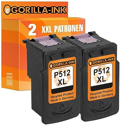 Gorilla-Ink - Cartuchos de Tinta para Canon PG-512 XL y CL-513 XL ...