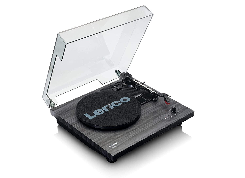 Lenco LS-10 - Tocadiscos (Tocadiscos de tracción por Correa, Semiautomático, Negro, MDF, 33,45 RPM, Motor de CC)