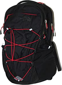 The North Face Unisex Borealis Backpack Laptop Daypack RTO (Tnf Black/red)