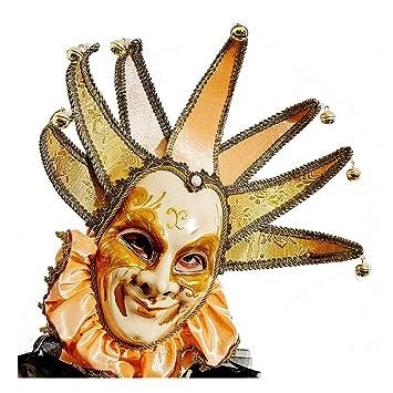 Amazon Smiling Gold Jester Jolly Veneice Joker Mask Venetian