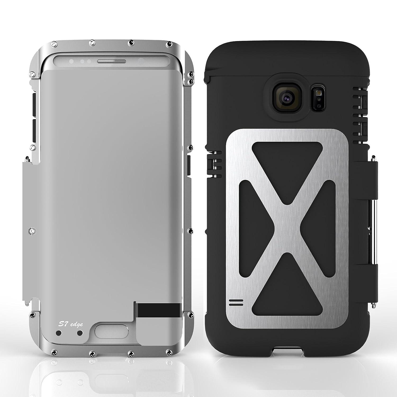 Samsung Galaxy S7 Edge Étui  S7 bord cadre en métal , Iron Man en alliage  d aluminium métal Bumper Coque antichoc Dropproof Étui à rabat pour Samsung  Galaxy ... 54accf1f3648