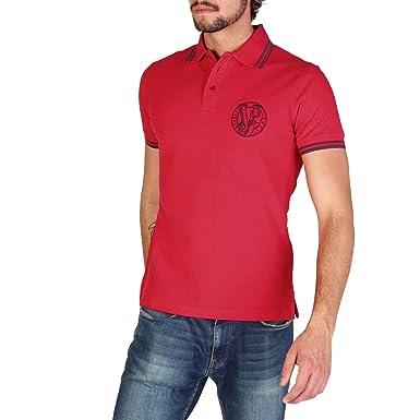 109e69e0f08 Versace Jeans t-Shirt Manches Courtes col Polo Homme Rouge EU 48 (UK 38