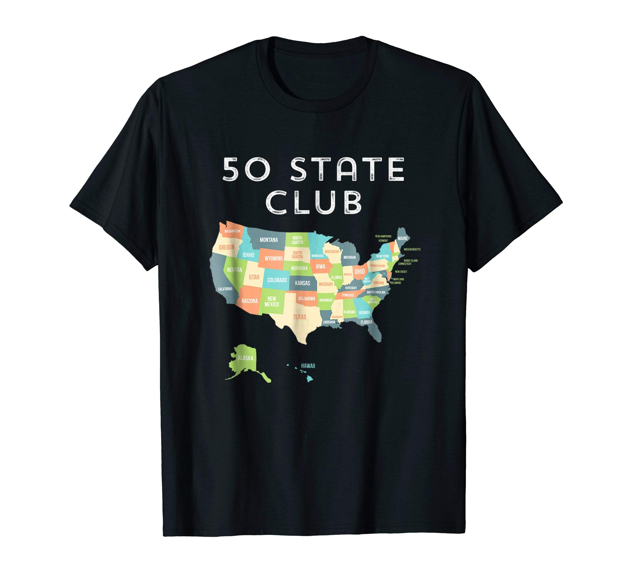 Visit all 50 states shirt, USA map t-shirt gift for travel