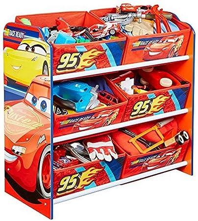 Disney Cars Meuble De Rangement Pour Chambre D Enfant Avec 6 Bacs Amazon Fr Cuisine Maison