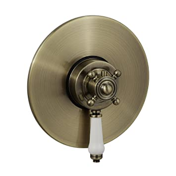 ENKI Duscharmatur mit Thermostat Aufputz Anschluss oben Vintage Design CLAREMONT