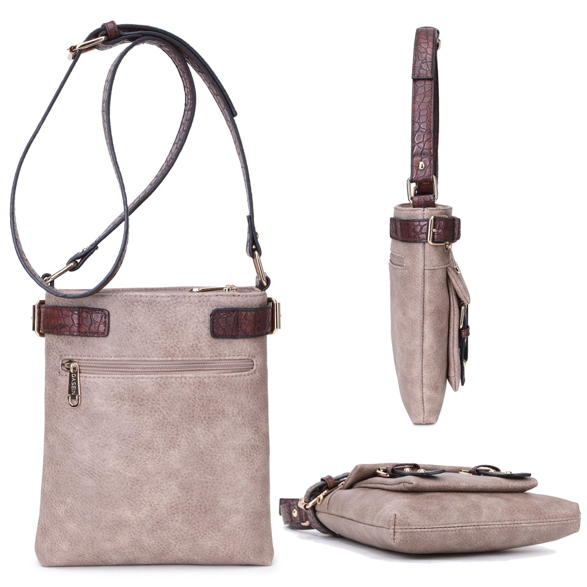 MMK Collection Fashion Crossbody Bag~Messenger Purse for Women~Designer Fashion handbag (MA-09-6333-1-BK) by Marco M. Kerry (Image #2)