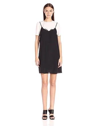 LIKELY Women's Kinney Dress, Black/White, XS