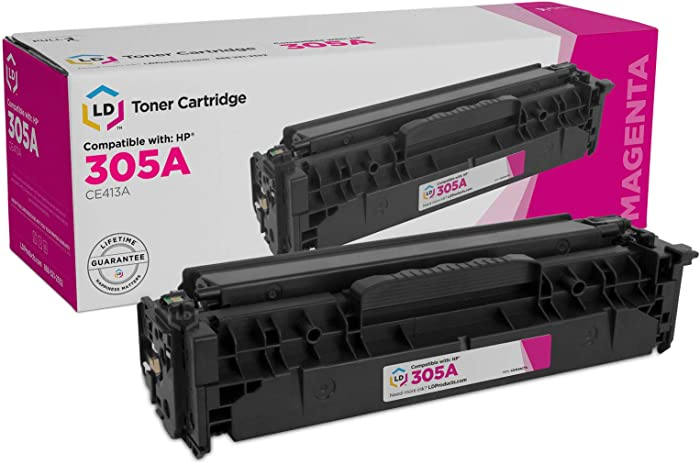 LD Remanufactured Toner Cartridge Replacement for HP 305A CE413A (Magenta)