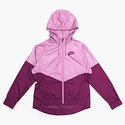 new styles 530af 267c2 Amazon.com Nike Sportswear Windrunner Jacket (Womens) (M, PurpleBlack)  Sports  Outdoors