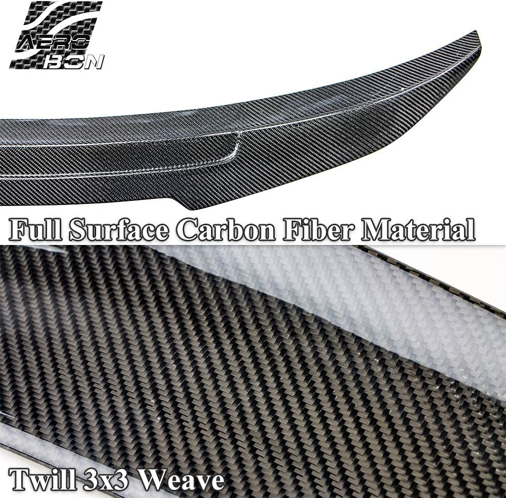3er G20 Sedan AeroBon Real Carbon Fiber Trunk Spoiler Wing Compatible with BMW 2019 CS Style