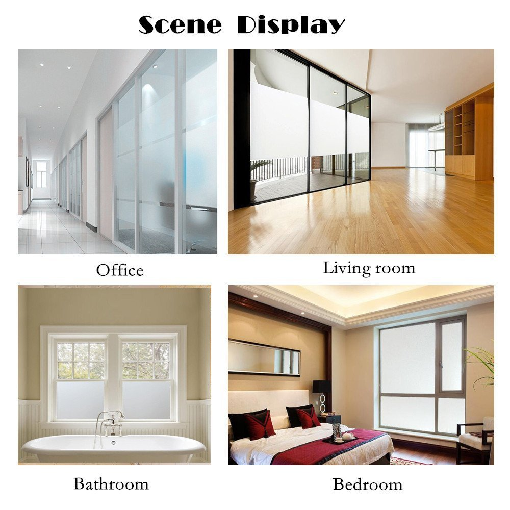 17.7 by 78.7 Inches SweetHome-US 4335883573 Bloss 3D Window Film Decorative Window Films Stained Glass Film Static Cling Window Film Window Cling No-Glue Heat Control Home D/écor