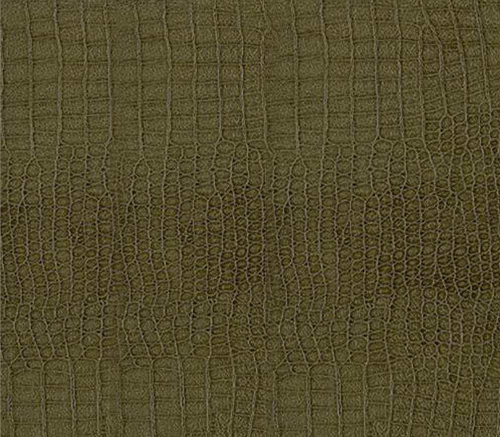 Vinyl Alligator Fake Leather Upholstery Fabric 54 Wide Sold by The Yard Black