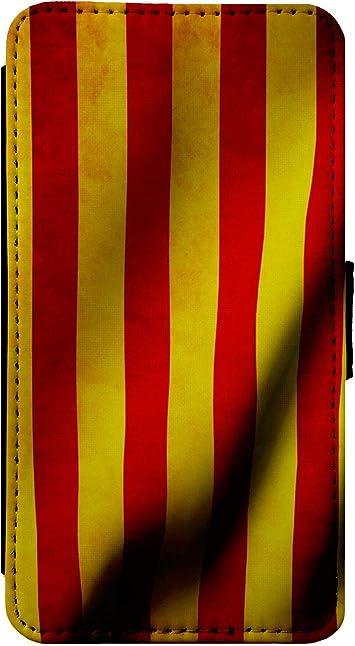 ShopQuality4U Tirón de la Caja del teléfono de la Piel Cubierta de la Carpeta España Bandera Catalán de Cuero para el iPhone 11 Pro: Amazon.es: Electrónica