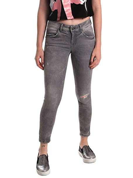 Fornarina SE171L99D872RN Jeans Mujeres Gris 28: Amazon.es ...