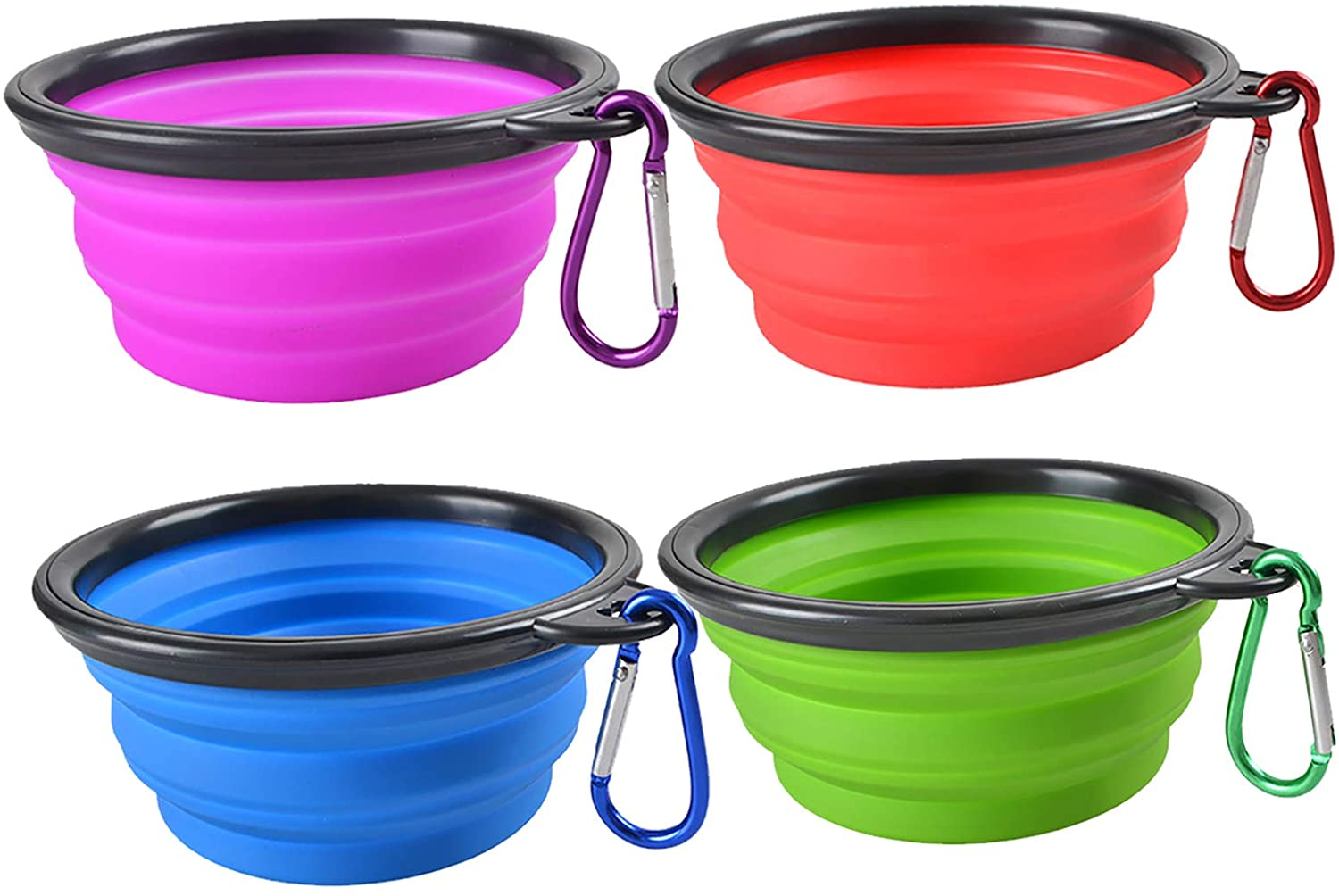 Portable Travel Collapsible Pet//Dog Food//Water Bowls 1 SMALL