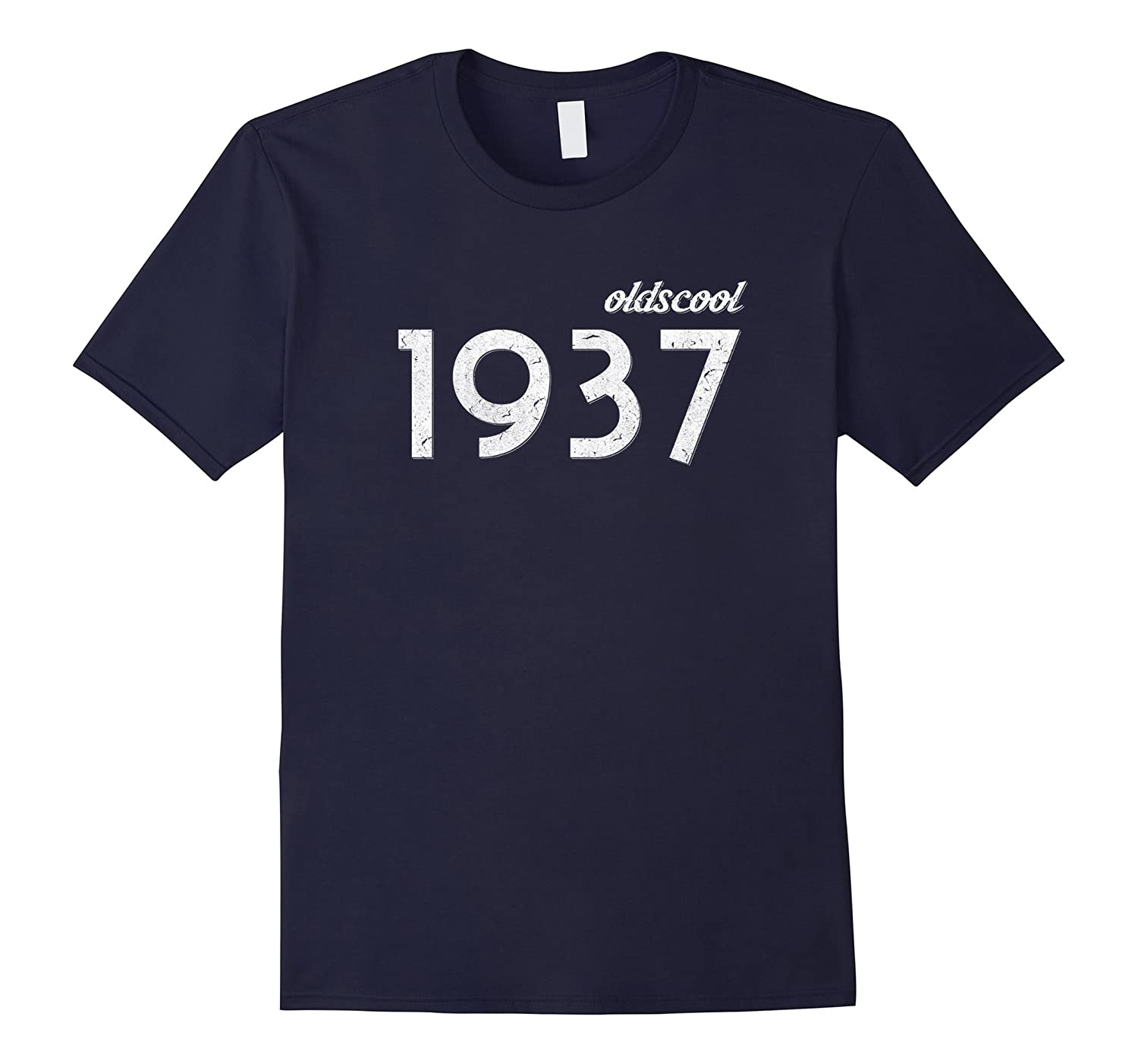 Oldscool T-shirt Old Scool 80th Birthday Gift Vintage 1937-Art
