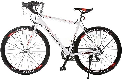 Orkan 700 C bicicleta de carretera 54 C 14 velocidades Shimano de aluminio para bicicleta de carreras, color blanco: Amazon.es: Deportes y aire libre