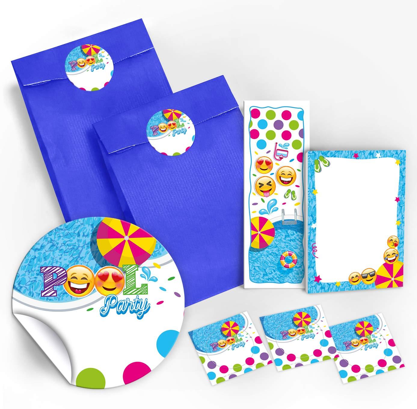 12 Einladungskarten Geburtstag Kinder Schwimmbad Für Mädchen Jungen