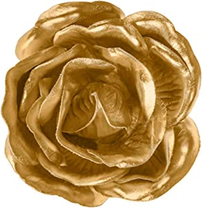 Home Collection Decorative Gold Flower Adhesive Wall Decor - Small for Home, Gallery Walls, Office Walls or Any Event Decorations, 4 in W