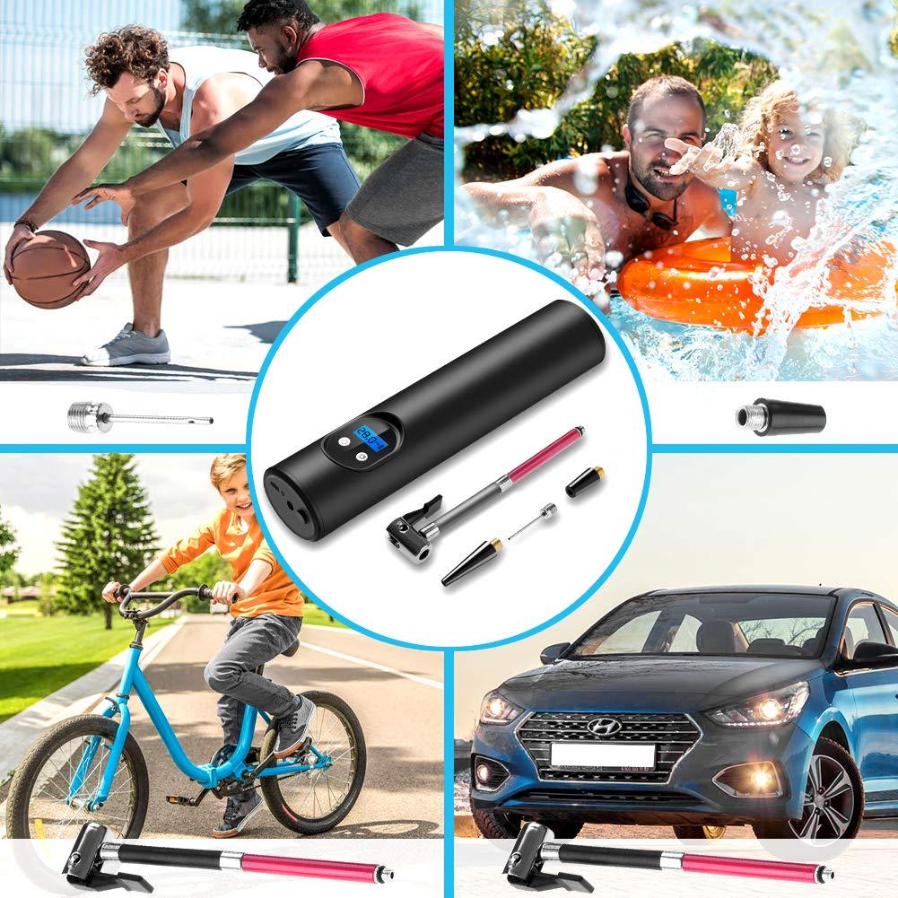 Luftkompressor Elektrische WZTO Auto Luftpumpe 150PSI 12V Elektrischer Kompressor Tragbare Auto Reifenpumpe mit Wiederaufladbarer 2000mAh Li-ionen Batterie mit LCD Display f/ür Auto,Fahrrad Motorrad