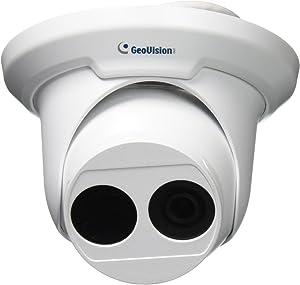 GeoVision GV-EBD4700 4MP H.265 Low Lux WDR Pro IR Eyeball IP Dome Megapixel Surveillance Camera, White