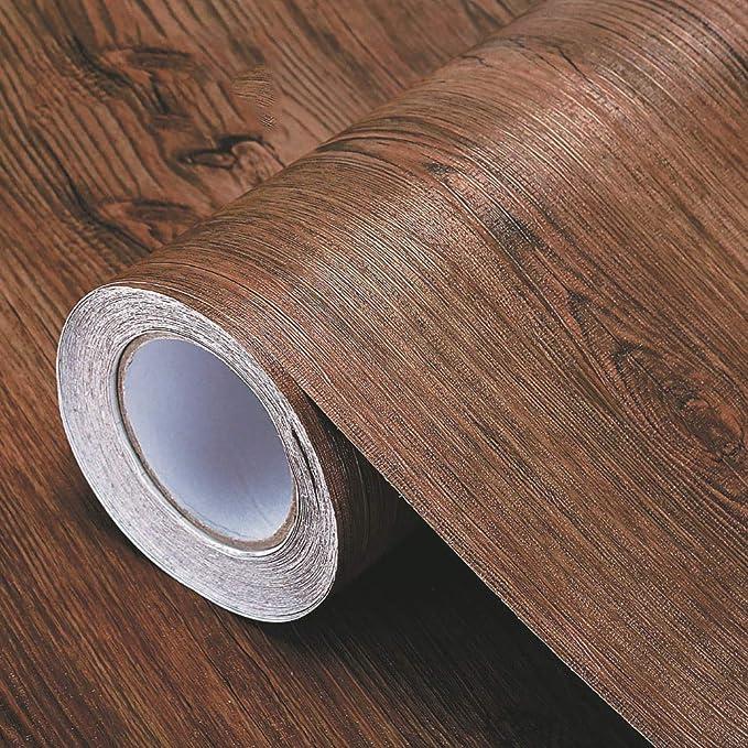Pegatinas de grano de madera Cucheeky papel de pared impermeable autoadhesivo para decoraci/ón de bricolaje para el hogar la oficina y el hotel