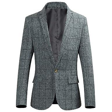 Longra Giacca in Maglia da Uomo con Button Cardigan da Uomo