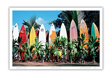 Amazon Com Pacifica Island Art Old Surfboards Never Die Maui