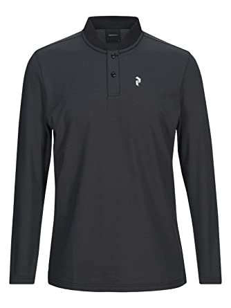 PEAK PERFORMANCE Austin - Polo de manga larga, color negro, Unisex ...