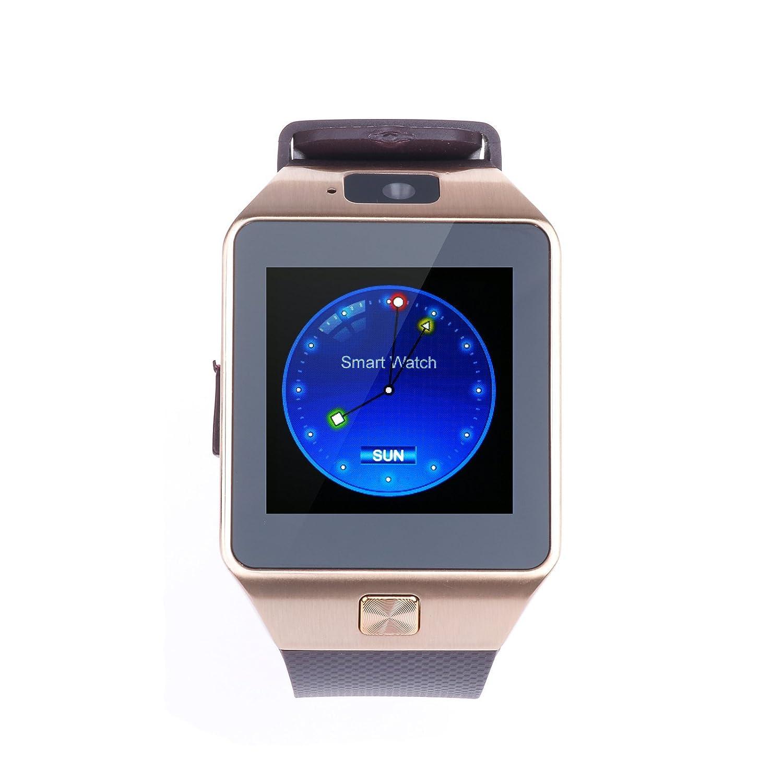 vinteky® DZ09 Bluetooth reloj inteligente con tarjeta SIM ranura ...