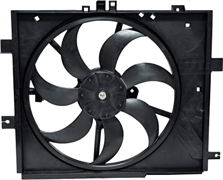 Dual Radiator and Condenser Fan Assembly TYC for Nissan Note Versa Auto Trans