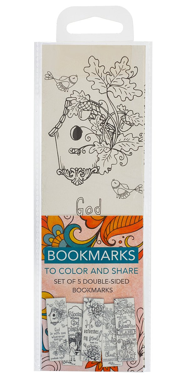 Creative Expressions of Faith Collection #4: Bookmarks to Color and Share - 5 Pack