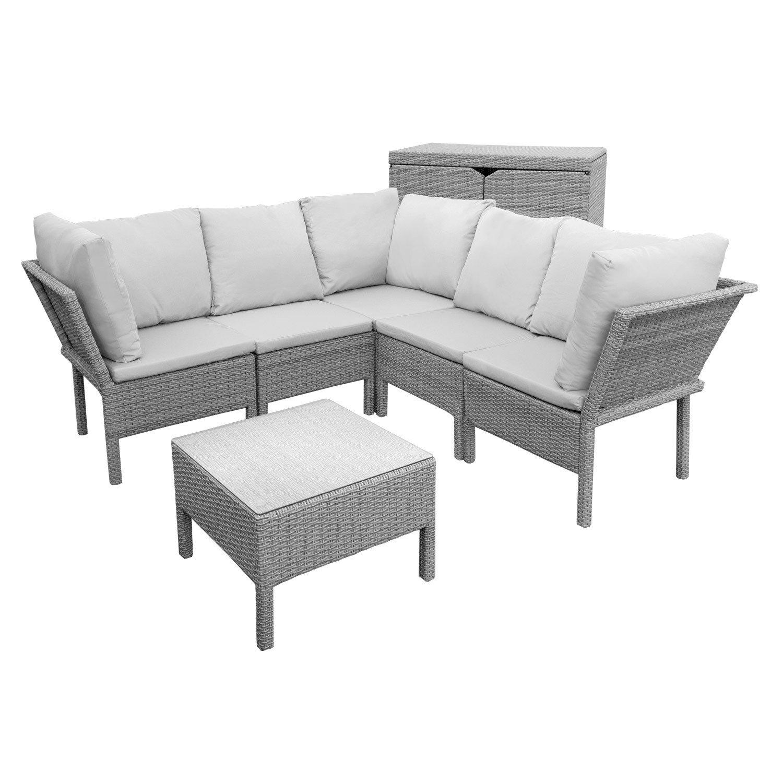 Anndora Hanana Rattan Gartenmöbel Sitzgruppe Sessel Mit Kissen