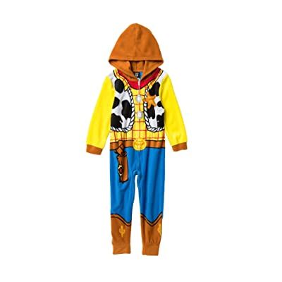 Disney Toy Story Sheriff Woody Boys Costume Pajama Costume Hooded Union Suit: Clothing