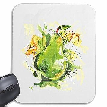 """Mousepad alfombrilla de ratón """"Fruta de la pera MIRABELL dieta de calorías PÉRDIDA DE"""