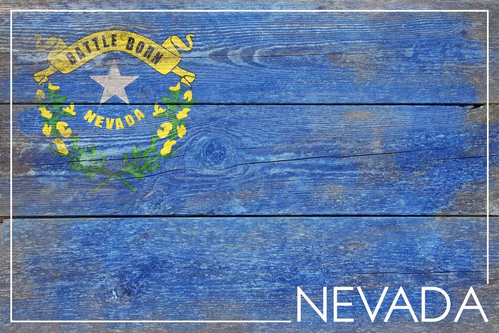 素朴なNevada State Flag 36 x 54 Giclee Print LANT-52560-36x54 36 x 54 Giclee Print  B017E9YE0Q