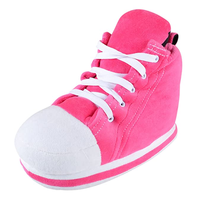 d5ba82768 Ladies Pink Sneaker Trainer Fun Novelty Slippers Real Shoe Laces - UK 7-8:  Amazon.co.uk: Shoes & Bags