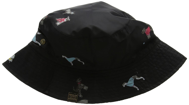 Joules Women's Rainyday Packable Rain Hat Black Chic Dogs One Size Joules Outerwear X RAINYDAY