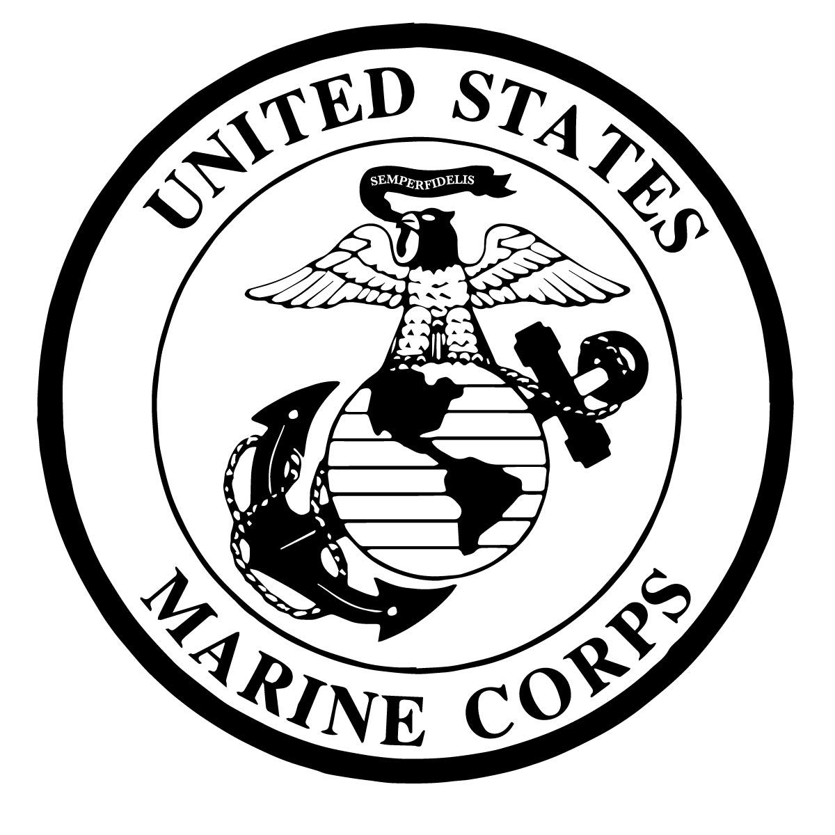Marine Corps Decal | Vinyl Wall Decor Design for Office or Window Decoration | Black, White, Red, Blue, Brown, Gray, Gold, Silver, Other Colors