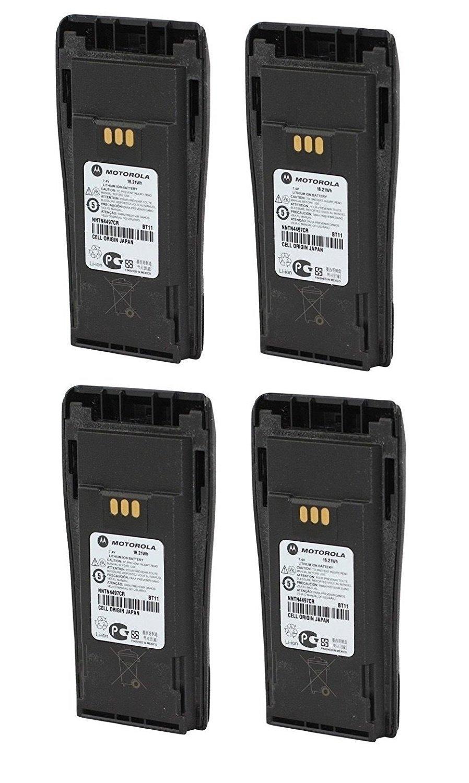 MOTOROLA OEM NNTN4497CR 4 Pack 7.2 Volts LI-ION 1.8Ah High Capacity Battery for Motorola CP-200 Walkie Talkie Original Motorola Battery NNTN4497 by Motorola (Image #1)