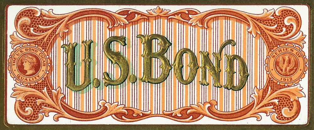 米国BondブランドCigarインナーボックスラベル 36 x 54 Giclee Print LANT-27424-36x54 B01MG3BALS  36 x 54 Giclee Print
