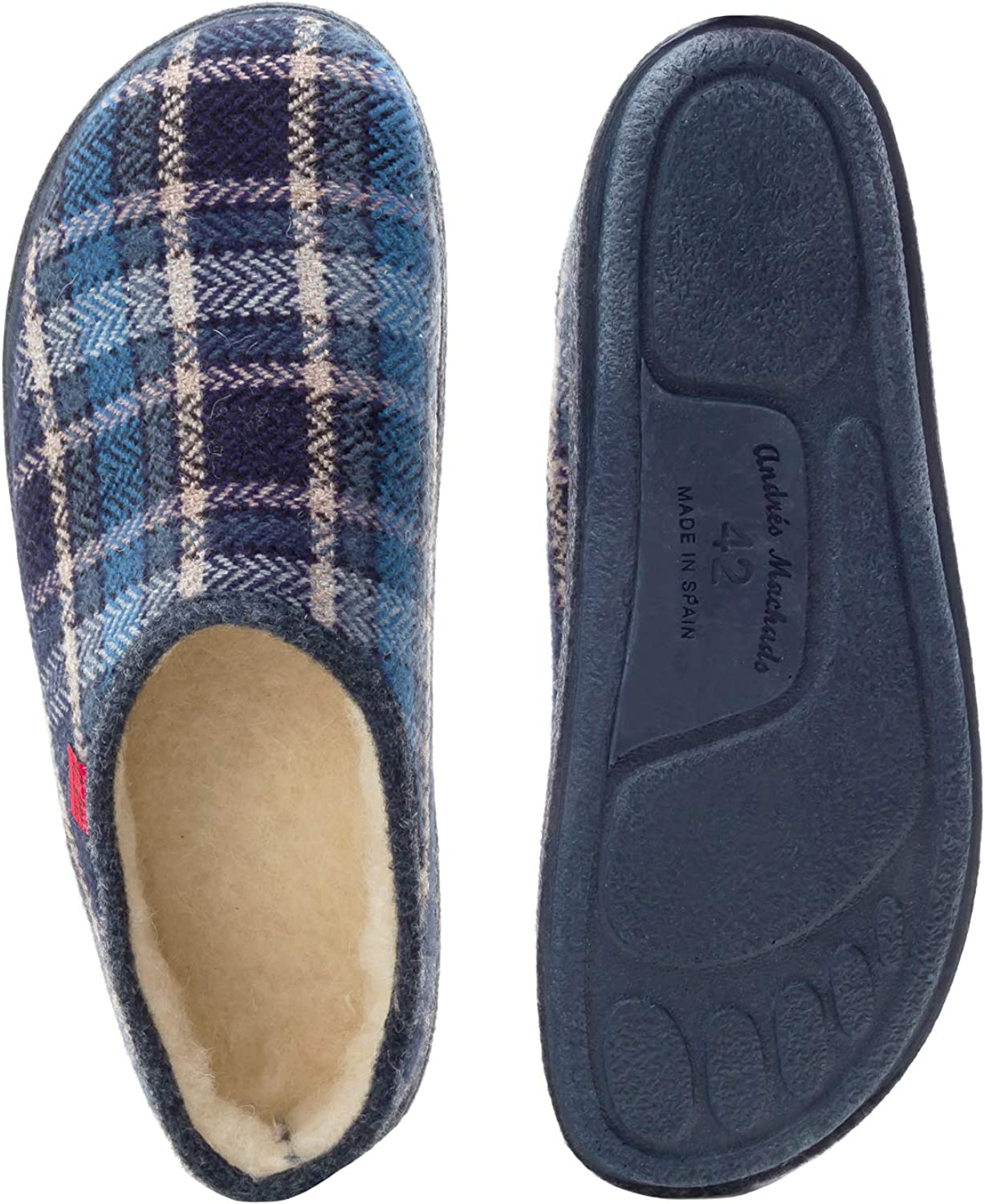 26//50 Andres Machado.AM001.AUTH/ÉNTIQUES chaussons MADE IN SPAIN Unisex.Petites et Grandes Pointures