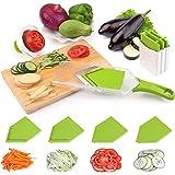 Uten 4 in 1 Affettatrice Verdure da Cucina Affettatrice Professionale per Patate Carote Zucchine, Rimovibile e Uniforme